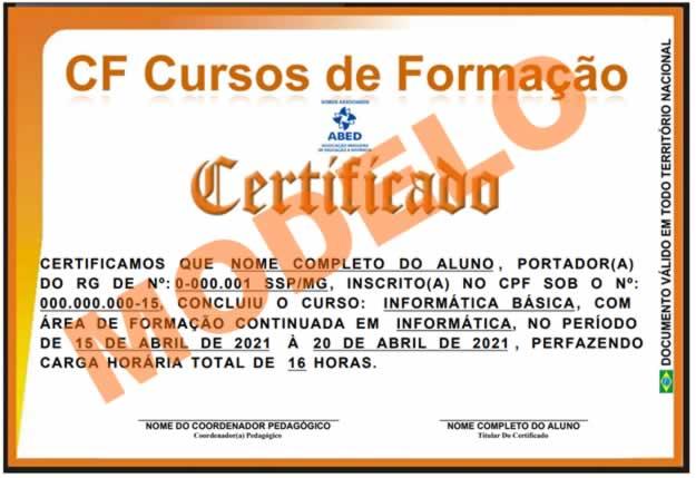 nosso certificado frente